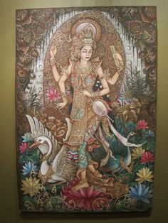 Goddess Saraswati devi Saraswati: Goddess of Knowledge & Arts Saraswati, the goddess of knowledge and arts, represents the free flow of wisdom and consciousness. She is the mother of the Vedas, and chants to her, called the 'Saraswati Vandana' often begin and end Vedic lessons. Saraswati is the daughter of Lord Shiva and Goddess Durga. It is believed that goddess Saraswati endows human beings with the powers of speech, wisdom and learning. She has four hands representing four aspects of…