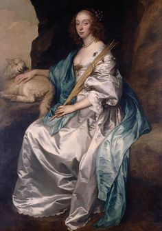 Lady Mary Villiers, Duchess of Richmond and Lennox, Sir Anthony van Dyck, 1637