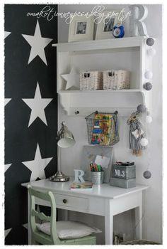 Oma koti onnenpesä: Mustaa, valkoista ja tähtiä Mini Office, Room, Kids Room, Home