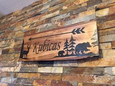 Wood Burned Signs, Carved Wood Signs, Deer Signs, Vinyl Signs, Rustic Signs, Rustic Decor, Camping Signs Personalized, Cabin Signs, Wood Flag