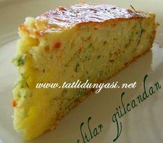 Patatesli Peynirli Tuzlu Kek Malzemeler : 1 su bardağı mısır unu 1 su bardağı un 1 demet taze dere otu 1 su bardağı sıvı yağ 1 su bardağı süt 4 tane yumurta 1 tane kabartma tozu