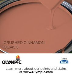 CRUSHED CINNAMON OL645.5 is a part of the neutrals collection by Olympic® Paint.