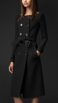 ShopStyle.co.uk: Bonded Crêpe Dipped Neckline Coat £1,895.00