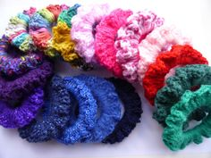 Items similar to School colour Scrunchies-Crochet. Choose size for thicker or finer hair. on Etsy Make And Sell, How To Make, School Colors, Crochet Accessories, Fine Hair, Scrunchies, Sparkle, Colour, Wool