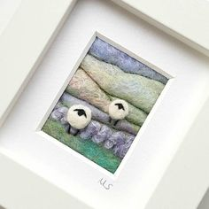 Felted sheep landscape by Textile Artist Maxine Smith of Tilly Tea Dance  https://www.etsy.com/uk/listing/564391972/felted-sheep-landscape-scene-miniature