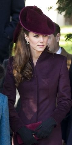 Duchess Kate looking lovely in purple.