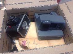 Lot Of Vintage Cameras Filters Ephemera Polaroid Kodak Parts NOT TESTED