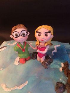 My chibi characters  cake topper fondant