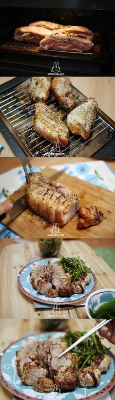 grilled pork belly