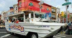 "Philadelphia ""RIDE THE DUCKS"" half Car half Boat"