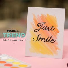 make this ombre watercolor quote project it is a fun hand lettering craft to add a personal spin on any diy card. Fun Crafts, Diy And Crafts, Paper Crafts, Diy Crafts For Teens, Cute Diys For Teens, Watercolor Art Diy, Calligraphy Watercolor, Calligraphy Cards, Calligraphy Alphabet