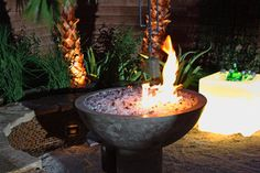 backyard + fire pit + water | ... Yard crashers with custom outdoor Glassel fire pits and fireplaces
