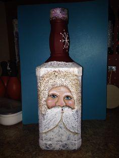 My Jack Daniels bottle Santa