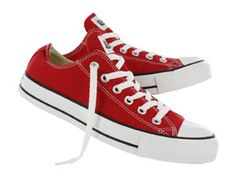 Converse CHUCK TAYLOR ALL STAR LO red canvas sneakers - Mens, Size 7 - $59.99