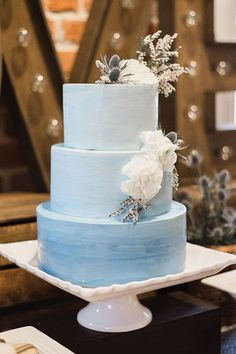 Ombre, a gorgeous colorway for wedding cakes that's trending now.