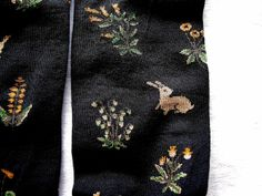 French socks with patterns taken from old tapestries by bonne maison