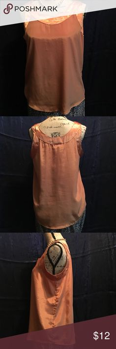 🍂🎃MARKED DOWN-END OF MONTH SALE🎃🍂Orange Cami Impressions of California Orange Cami.  Satin-type detail around neck and arms.  Very nice item, excellent color for fall. Tops Camisoles