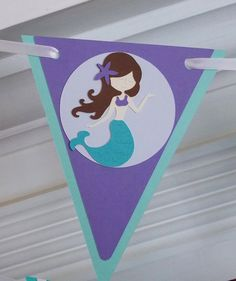 Mermaid Happy Birthday Banner ... Under the by APaperPlayground, $24.50