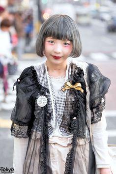 Pastel Bob Hair, Vintage Fashion, Gunifuni Teddy Bear Bag & Tokyo Bopper (Tokyo Fashion, 2015)