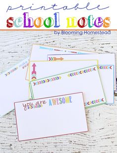 Printable School Notes
