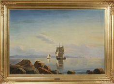 Lauritz.com - Ældre billedkunst - Christian Blache. Olie på lærred. Marine - DK, Hørsholm, Vibe Alle