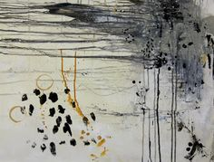 textures shapes and color blog Leslie Avon Miller contemporary collage paintings.