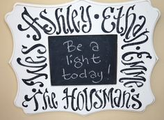 Family Values Chalkboard    Bradley Frame by kijsa on Etsy