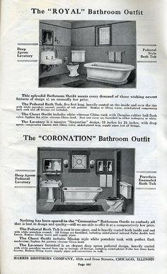 Handwerker-Badezimmer verfügbar in Harris Homes im Jahr 1920 Craftsman Bathroom, Craftsman Interior, Craftsman Style, Craftsman Kitchen, Art Deco Bathroom, 1920s Bathroom, Art Nouveau, Craftsman Remodel, Craftsman Bungalows