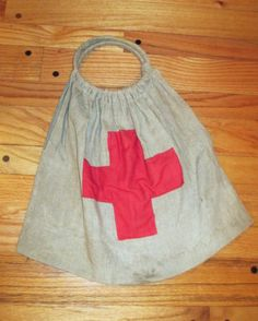 """WORLD WAR ONE RED CROSS KNIT YOUR BIT KNITTING BAG OUR BOYS NEEDS SOX RED CROSS sponsored  knitting bag measures @ 18""""-19"""" wide  x  20"""" to top of arm rings GREAT addition to that collection OBTAINED this with WWI ARMY CALVARY HORSE BLANKET which is also listed... Horse Blanket, Vintage Nurse, World War One, Red Cross, Knitted Bags, Wwi, Nurses, Athletic Tank Tops, Army"""
