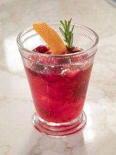 Get Cranberry-Rosemary Julep Recipe from Food Network