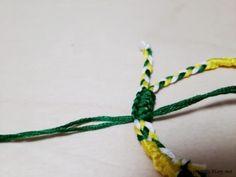 미산가(기본) 소원팔찌 매듭짓는법_평매듭짓기/소원팔찌 돌려엮기 매듭 묶는법 : 네이버 블로그