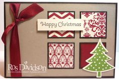 Nice card to make with all that pretty Christmas paper