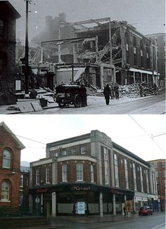 Sheffield History - Then and Now Photo Thread Then And Now Photos, Old Pub, Sheffield England, South Yorkshire, Norfolk, Beards, Old Photos, Britain, Past