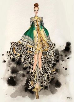Mary Katrantzou Fashion Illustration competition