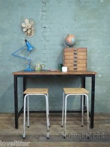 metal and wood work bench