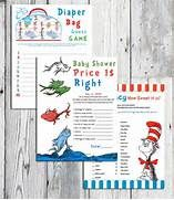 Dr. Seuss Inspired Baby Shower Games, Choose One Printable Game, TEN ...