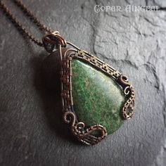 Julie Hulick, wire wrap pendant