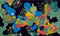 Josef Frank (Swedish, born Austria, 1885–1967), textile design Anakreon, 1930s.