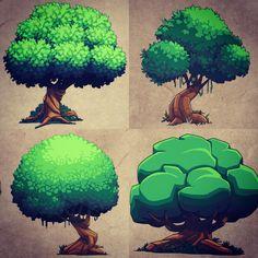 The Art of Derek Laufman — Tree concepts drawn in Photoshop on my cintiq. Digital Painting Tutorials, Digital Art Tutorial, Art Tutorials, Concept Art Tutorial, Concept Draw, Game Concept Art, Art And Illustration, Dessin My Little Pony, Piskel Art
