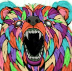 Discover & share this Bear GIF with everyone you know. GIPHY is how you search, share, discover, and create GIFs. Winnie The Pooh, Bear Gif, Trippy Gif, Creators Project, Acid House, Unusual Art, Glitch Art, First Art, Artist Painting