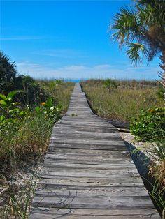 Pathway to the beach...Little Gasparilla Island