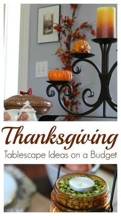 Simple Thanksgiving Tablescape Ideas on a Budget