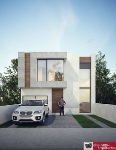 Find many lots and lots of grand features, apartment units, residence, apartments. Modern Villa Design, Modern Exterior House Designs, Exterior Design, Bungalow House Design, House Front Design, Small House Design, Modern House Facades, Modern Architecture House, Architecture Design
