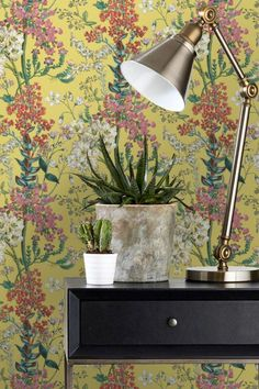 Gorgeous Albany wallpaper design featuring a trailing jungle flora.