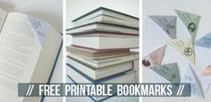 For The Book Lover: Free Printable Bookmarks via @somewhatsimple
