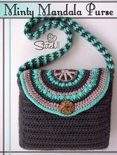 Minty Mandala Purse in Soft Essentials from Stitch11