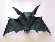 Bastelanleitung - Origami Fledermaus falten-dekoking-com-2