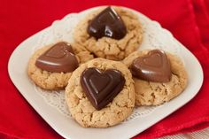 Valentine Trifecta Cookies ~T~ a combination of  Peanut-Butter,Chocolate Chip and Oatmeal cookies.   -Barbara-Bakes