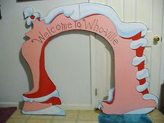 9-pc.SET HAND MADE & PAINTED WHOVILLE ARCH & WHOVILLE PEOPLE CHRISTMAS YARD ART                                                                                                                                                                                 More