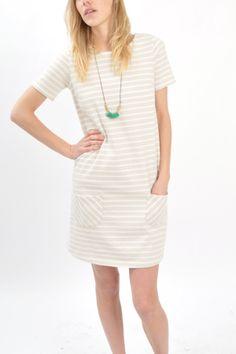 wood wood white stripe covina dress